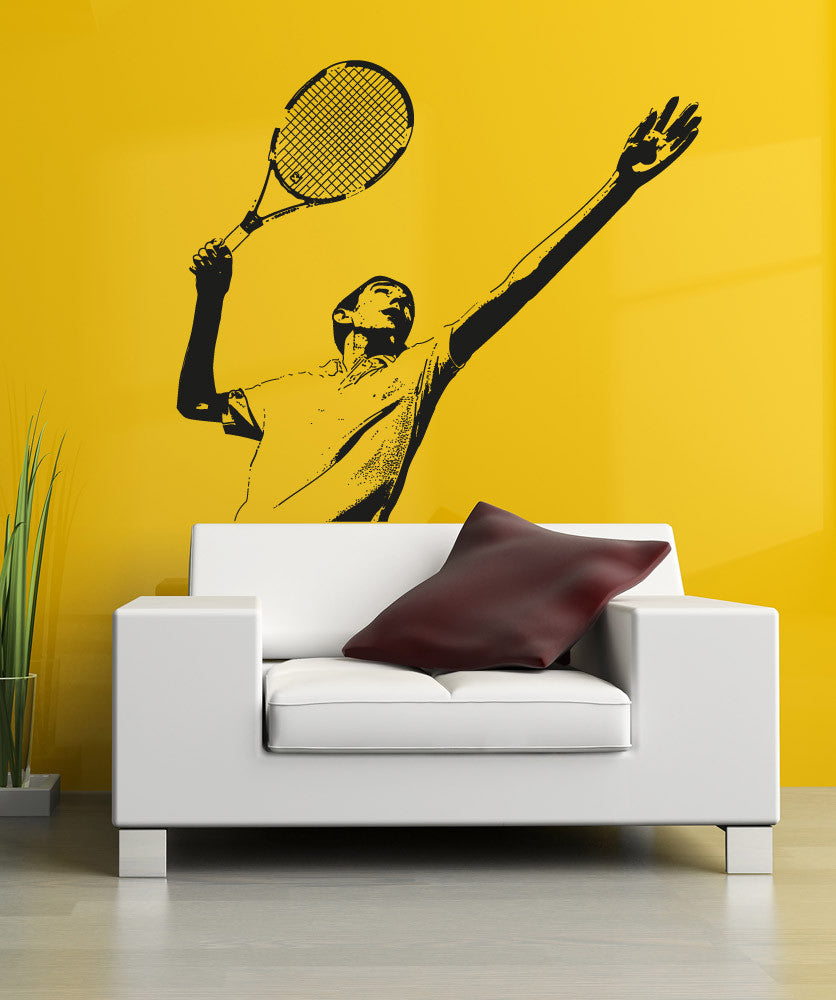 Vinyl Wall Decal Sticker Male Tennis Player #5113
