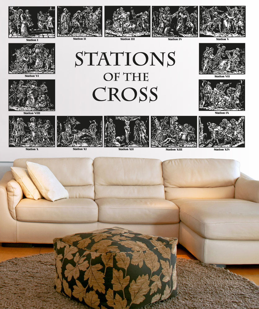 Vinyl Wall Decal Sticker Stations of the Cross #5117