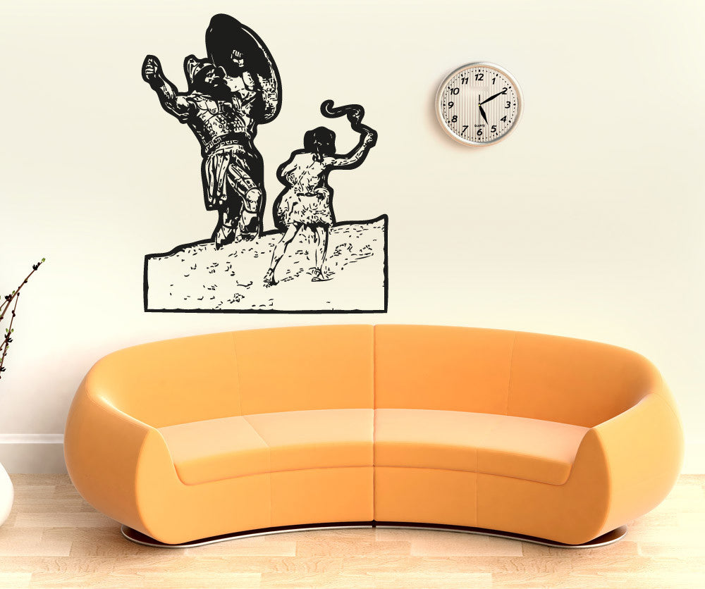 vinyl wall decal sticker david and goliath 5118