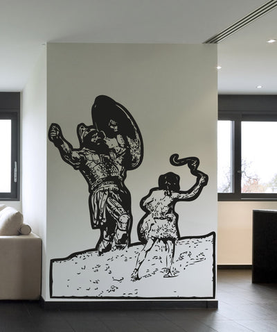 Vinyl Wall Decal Sticker David and Goliath #5118