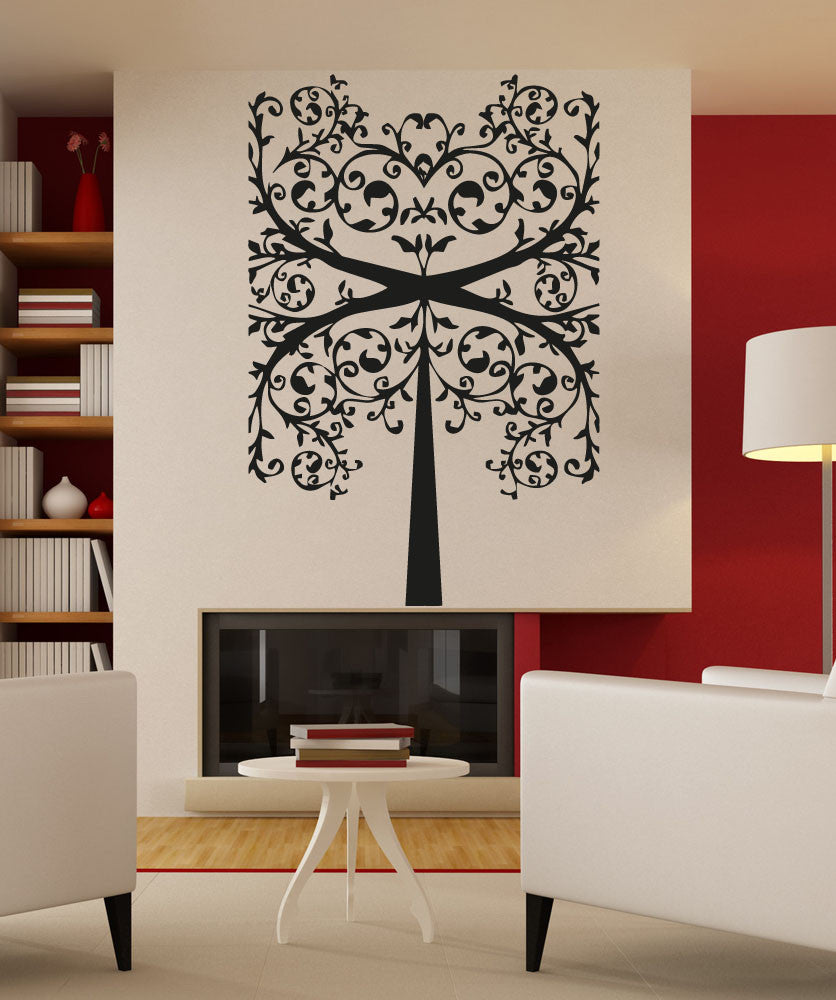 Vinyl Wall Decal Sticker Square Vine Tree #5119