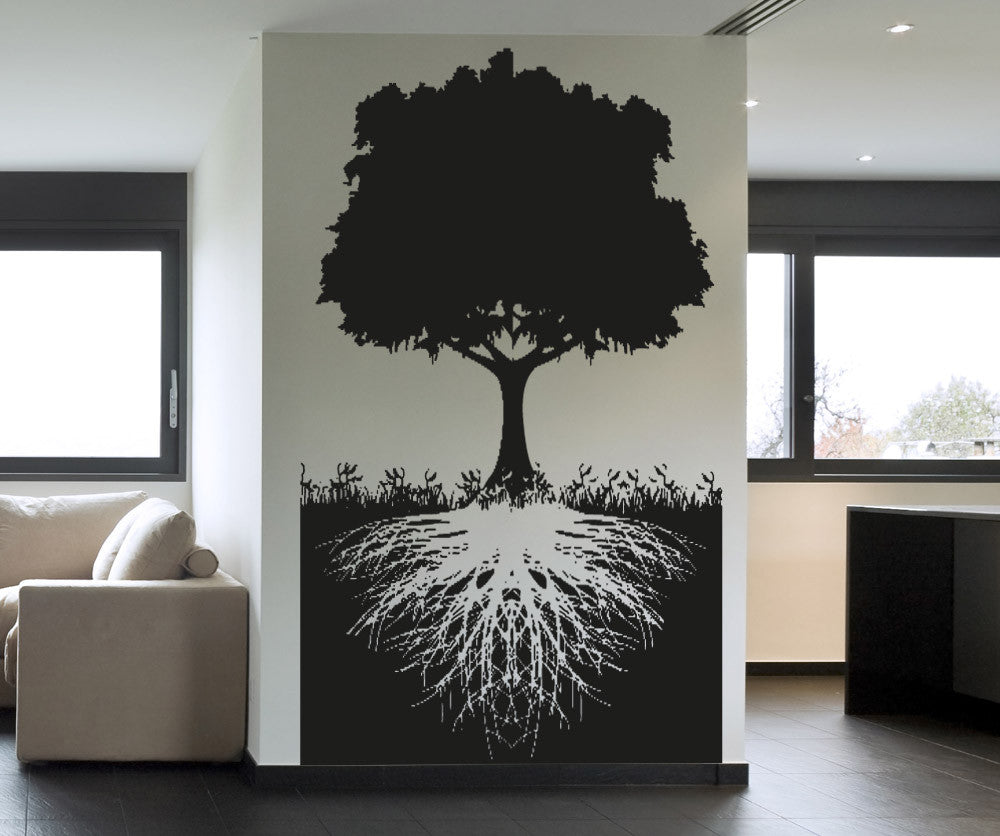 Vinyl wall decal sticker tree with roots 5128 amipublicfo Choice Image