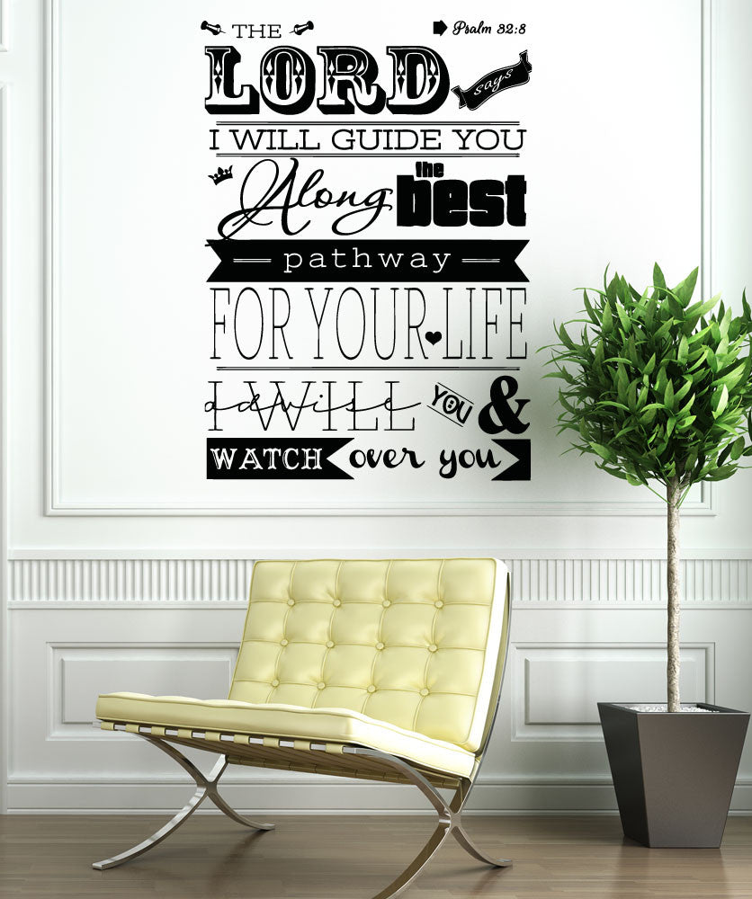 Vinyl Wall Decal Sticker Psalm 32:8 #5133