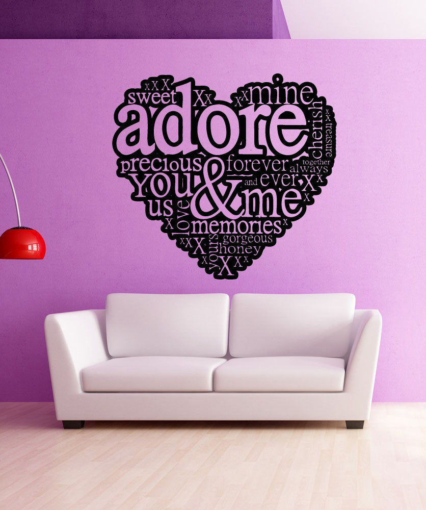 Vinyl wall decal sticker love words 5140 amipublicfo Image collections