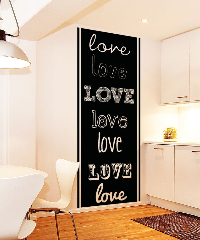 Vinyl Wall Decal Sticker Love Fonts #5141