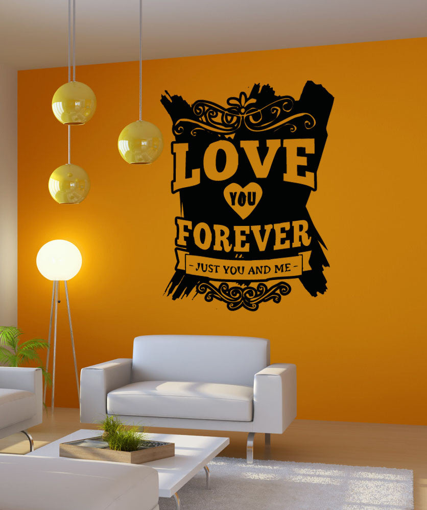 Vinyl Wall Decal Sticker Love You Forever #5142