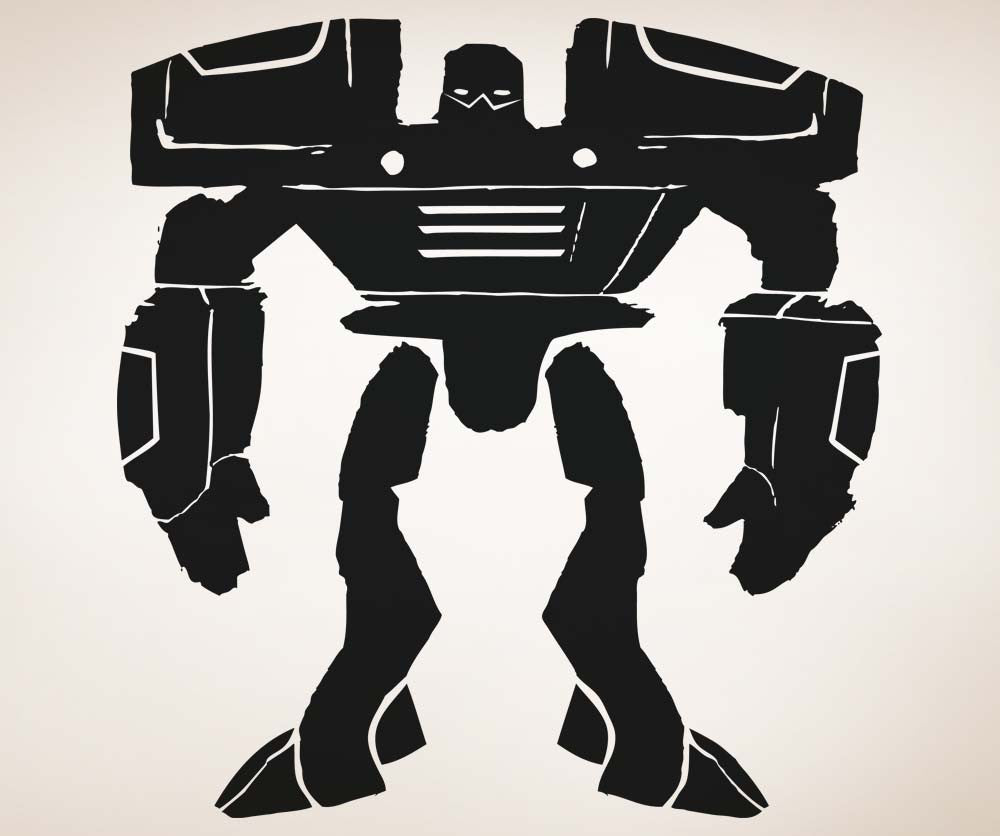 Vinyl Wall Decal Sticker Big Alien Robot #5144