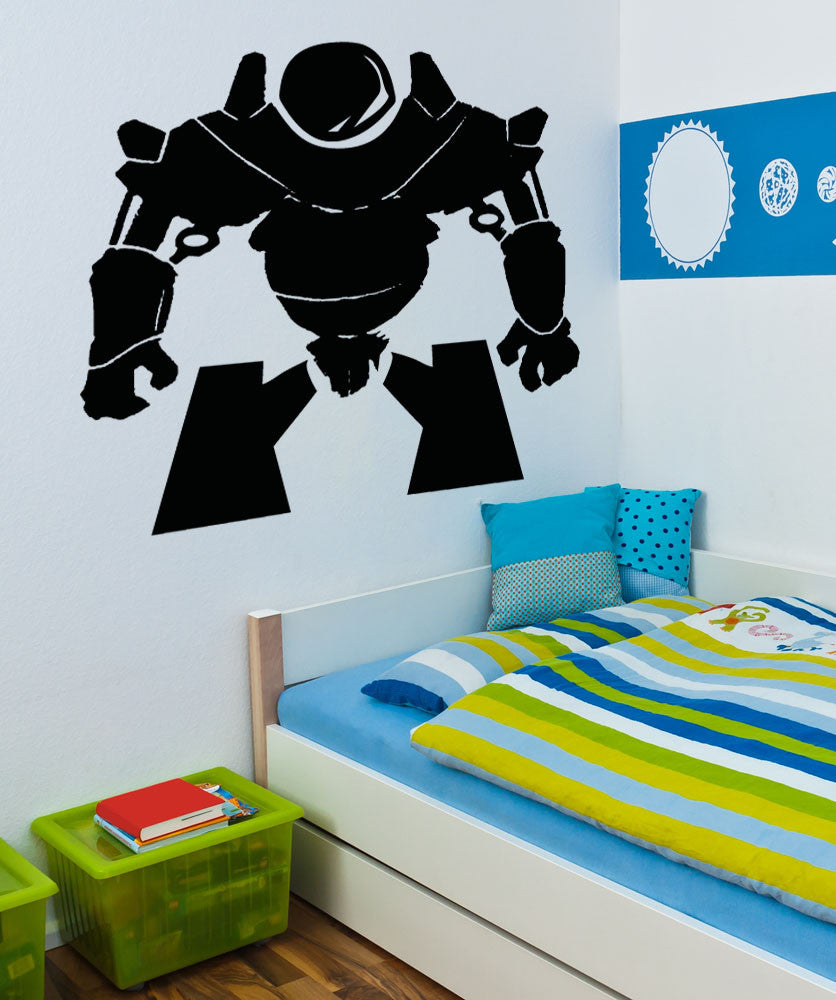 Vinyl Wall Decal Sticker Short Alien Robot #5146