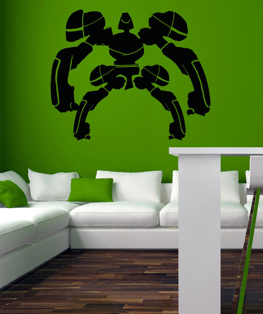 Vinyl Wall Decal Sticker Alien Robot with Armor #5147