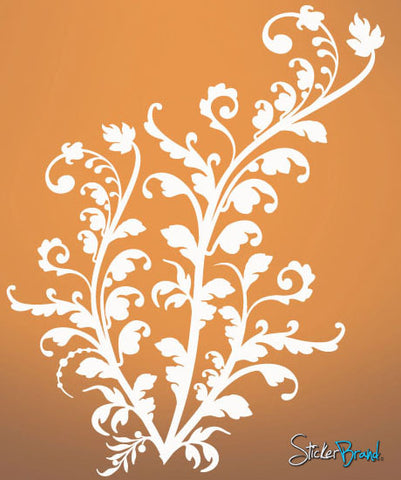 Vinyl Wall Decal Sticker Floral Flower Swirl #514