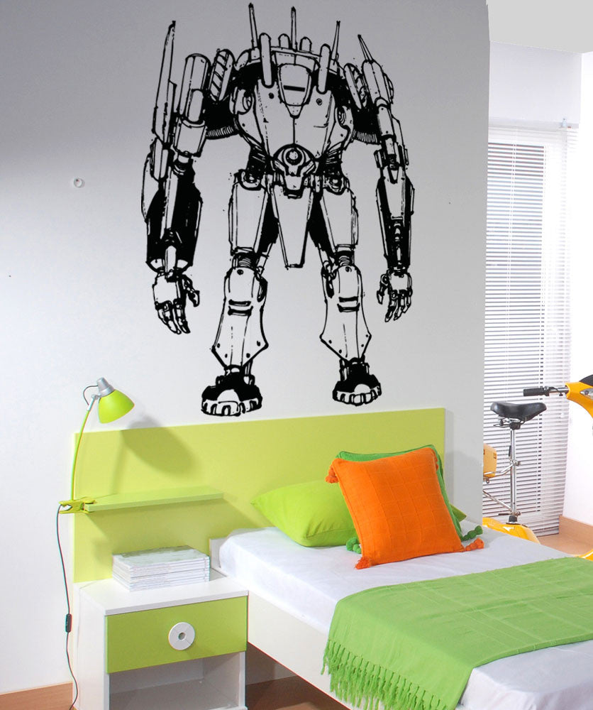 Vinyl Wall Decal Sticker Alien Robot Soldier #5150