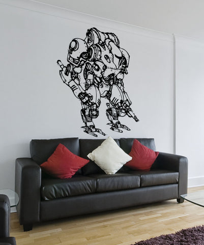 Vinyl Wall Decal Sticker Alien Robot Warrior #5151