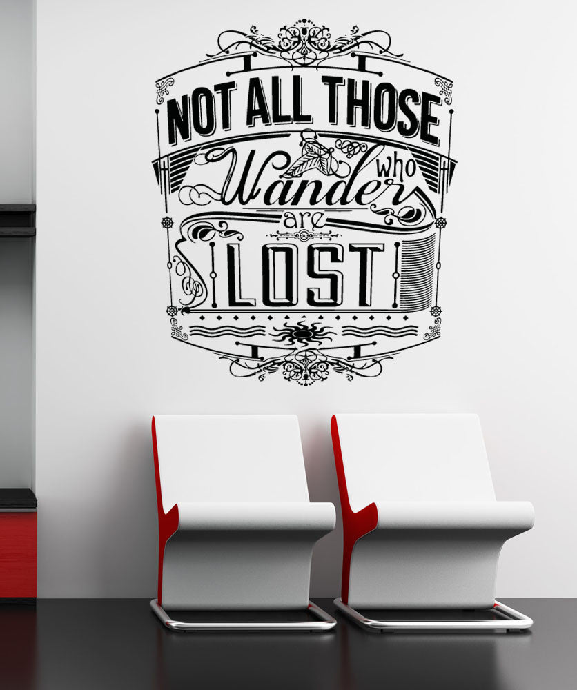 Inspirational quotes wall decals inspirational wall stickers vinyl wall decal sticker wanderer quote 5158 amipublicfo Images