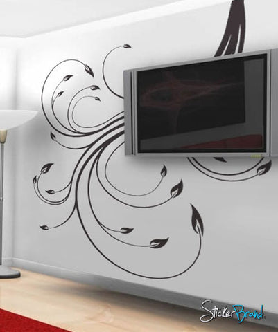 Vinyl Wall Decal Sticker Swirl Flower #515