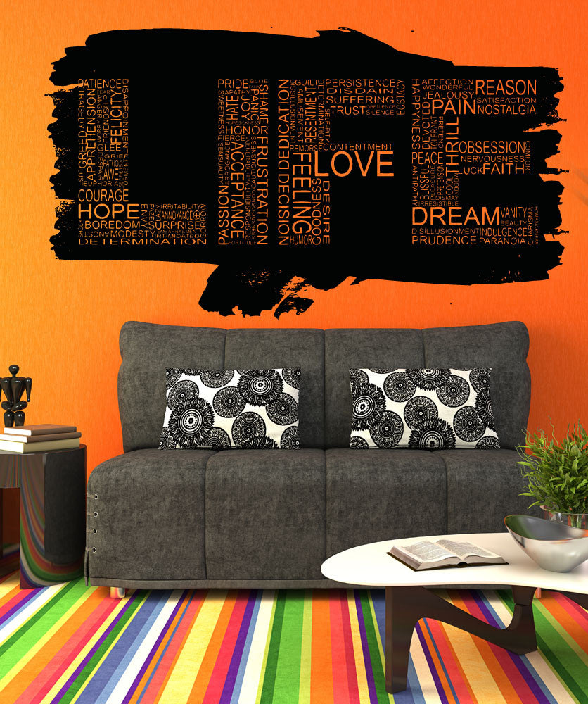 Vinyl Wall Decal Sticker Life Words Design #5160