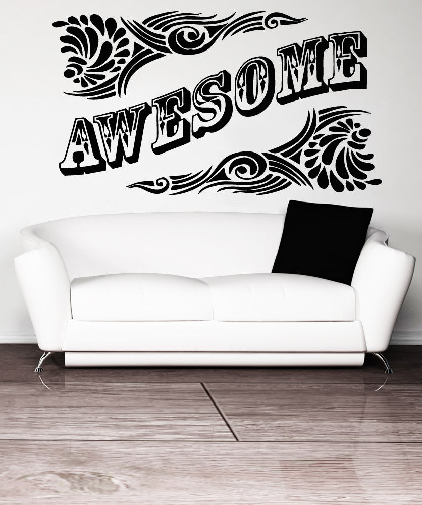 Vinyl Wall Decal Sticker Awesome #5164
