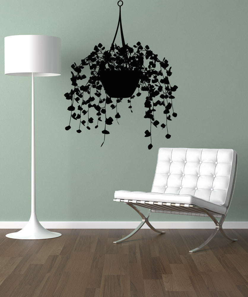 Vinyl Wall Decal Sticker Potted Vine Plant 5168