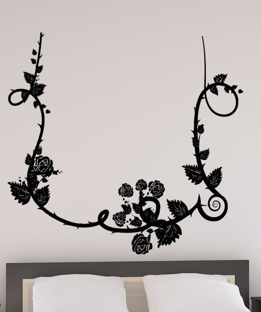 Vinyl Wall Decal Sticker Hanging Rose Vine #5169