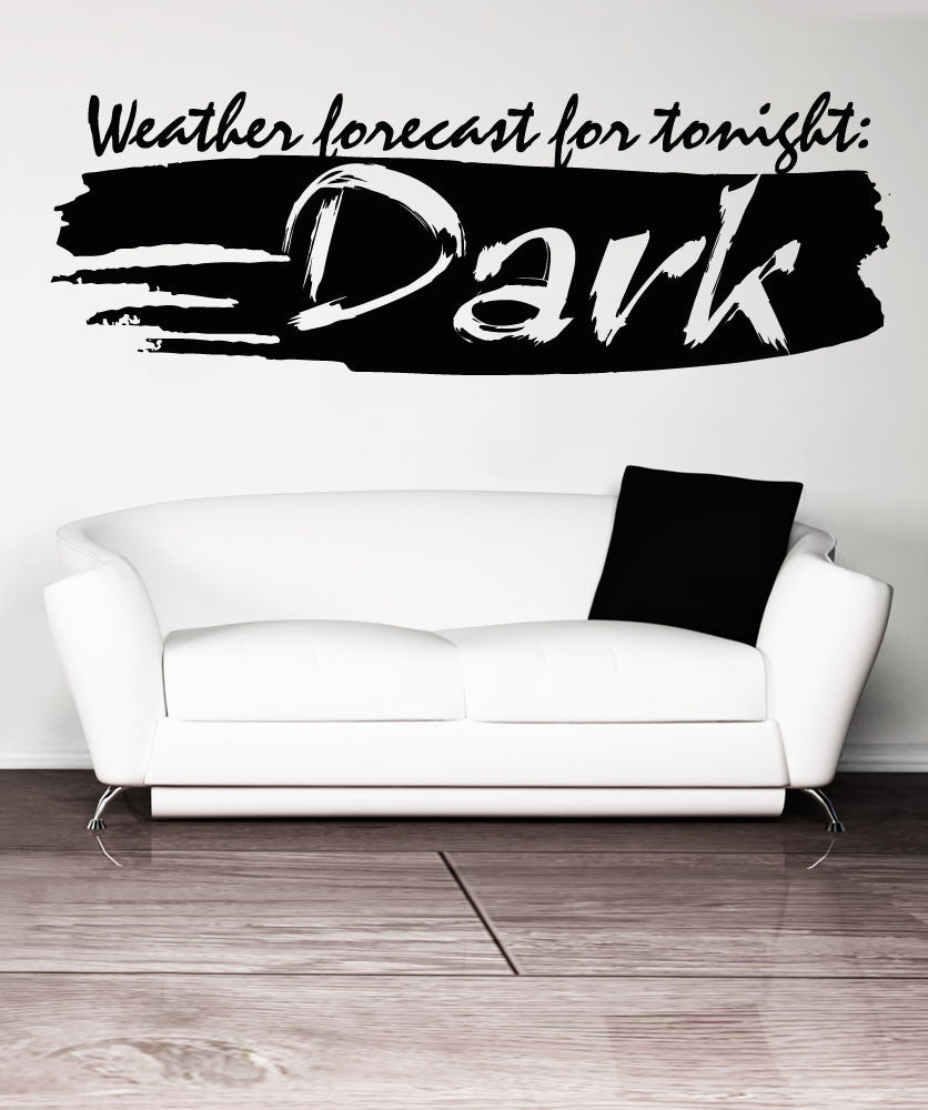 Vinyl Wall Decal Sticker Weather Forecast #5176
