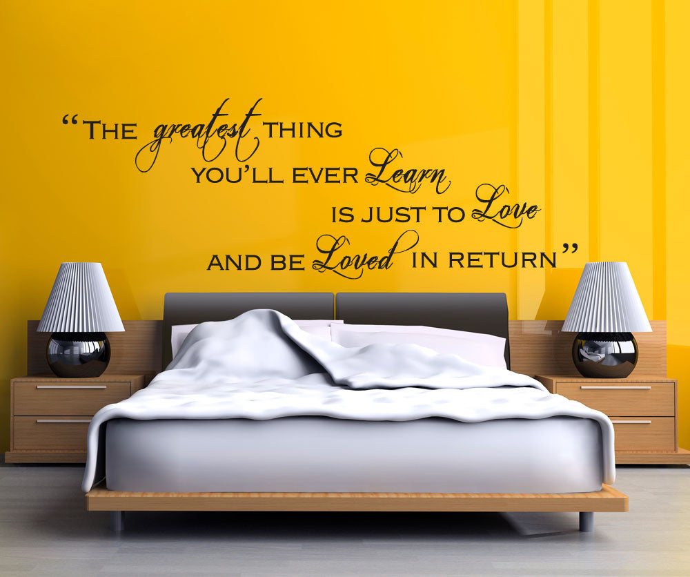 Return To Love Quotes Vinyl Wall Decal Sticker The Greatest Thing Quote 5181