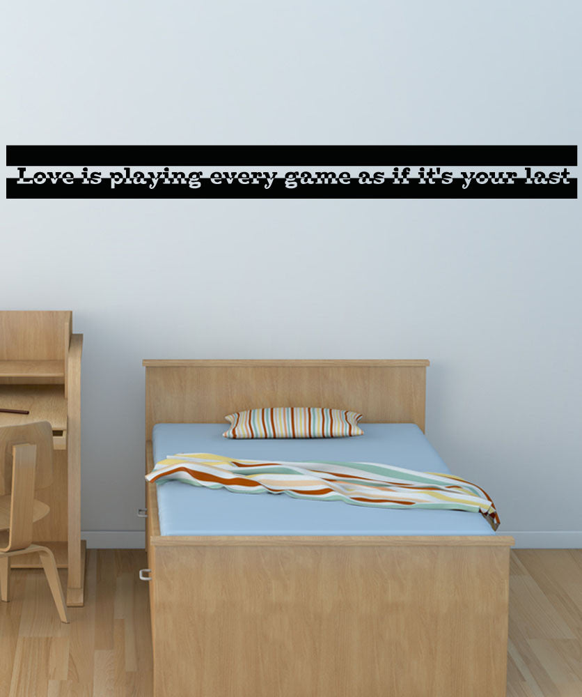 Vinyl Wall Decal Sticker Love the Game #5188