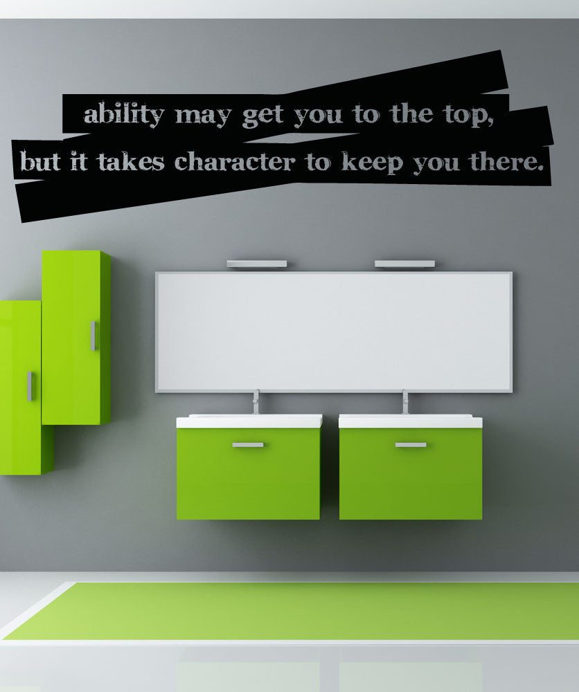 Vinyl Wall Decal Sticker Ability Character Quote #5189