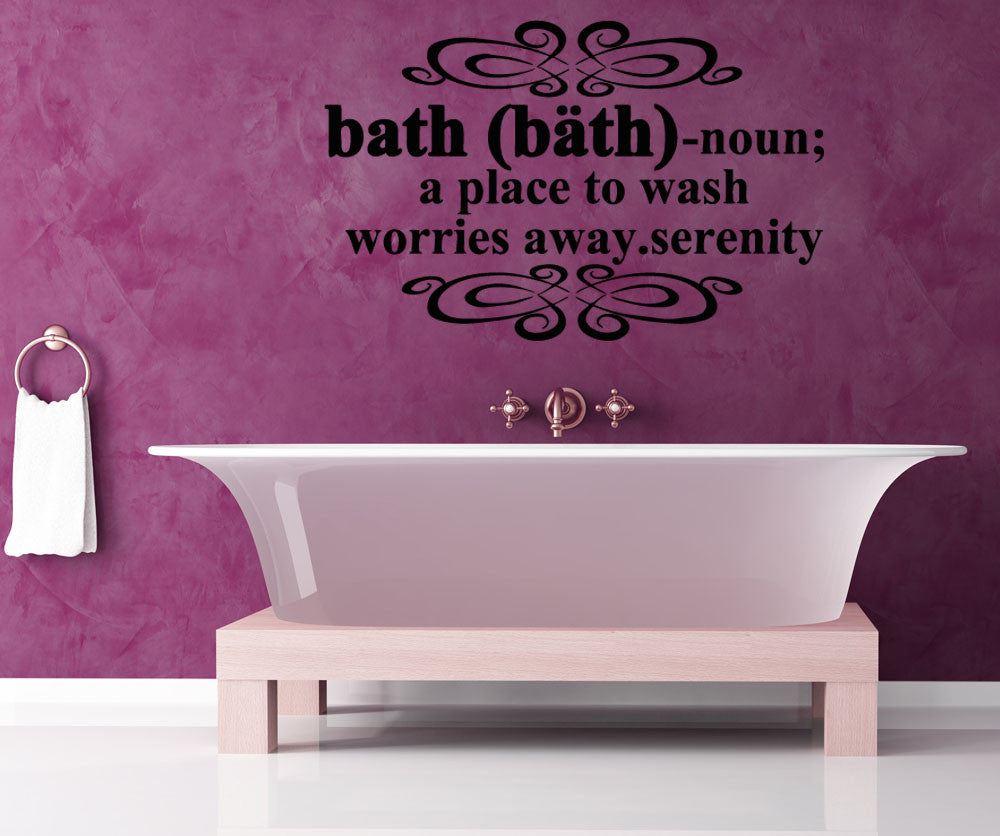Vinyl wall decal sticker bath definition 5191 amipublicfo Image collections