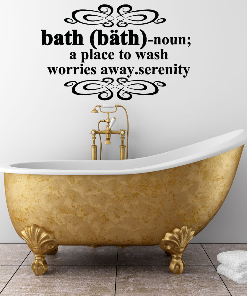 Vinyl Wall Decal Sticker Bath Definition 5191