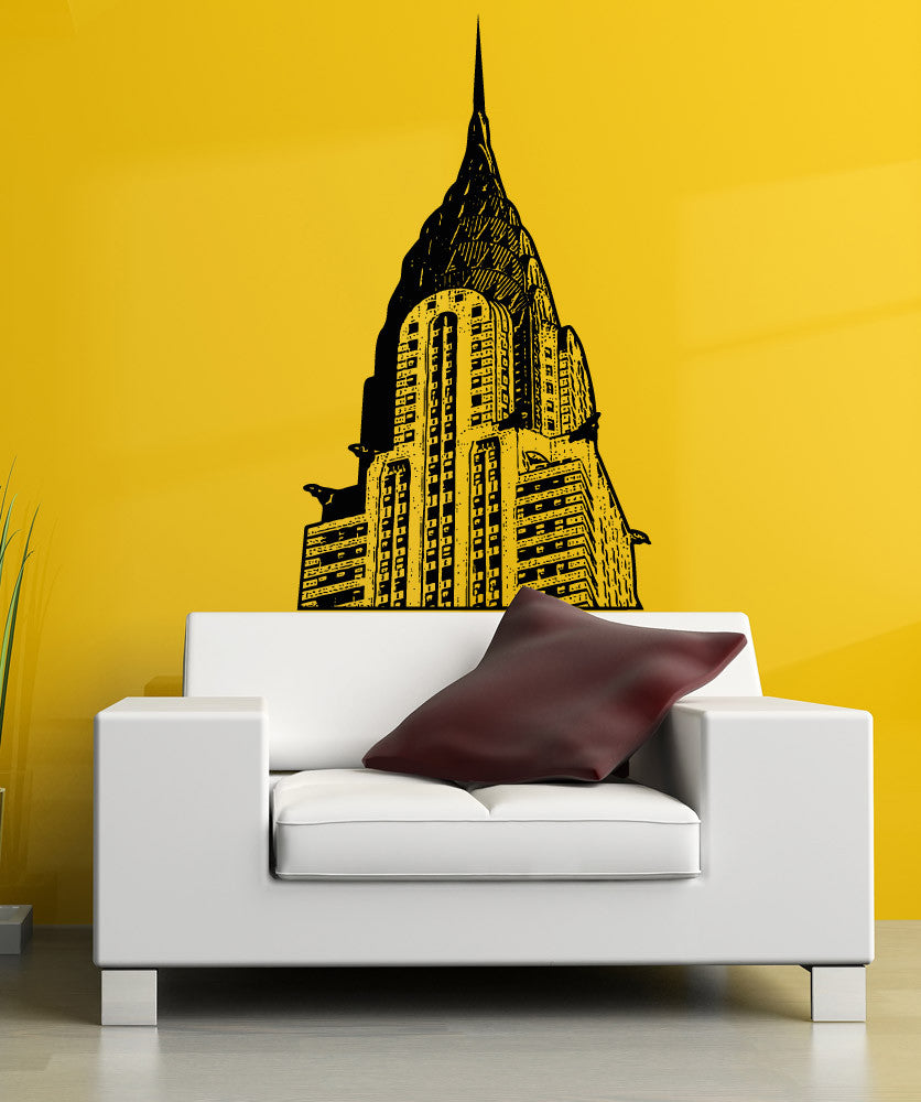 Vinyl Wall Decal Sticker The Chrysler Building #5199