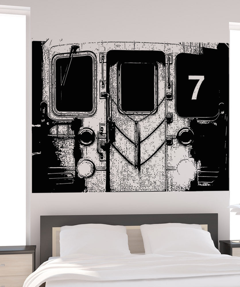 Vinyl Wall Decal Sticker Front of 7 Train #5210