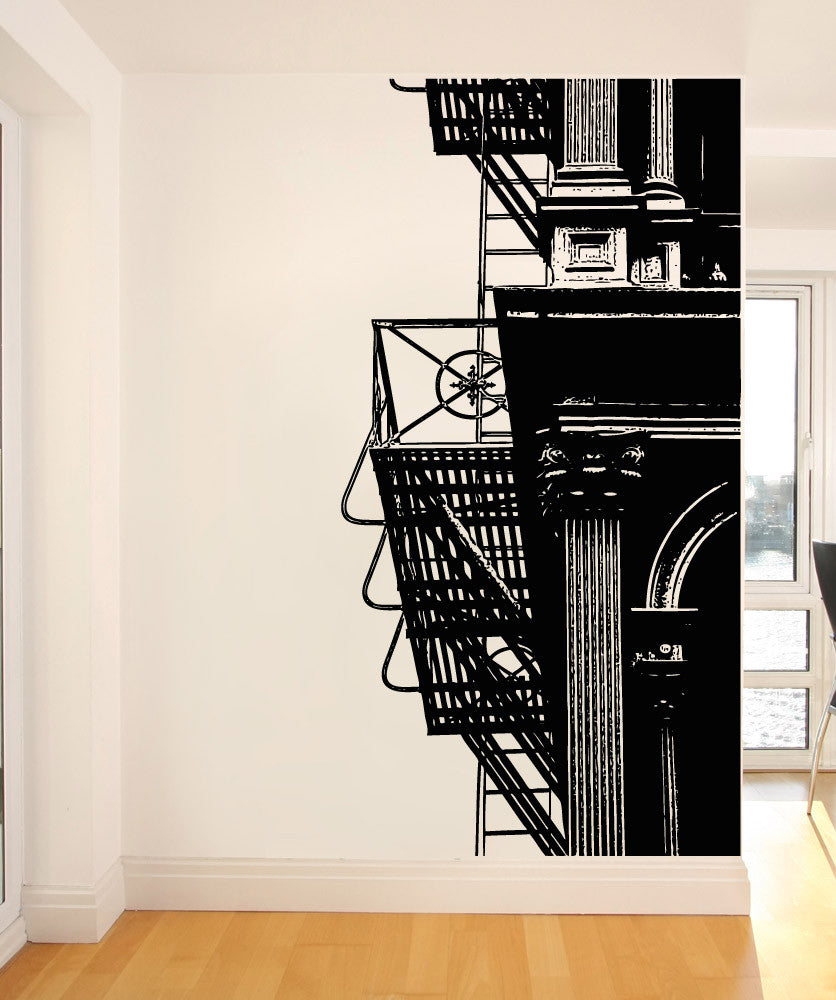 Vinyl Wall Decal Sticker Apartment Fire Escape #5229
