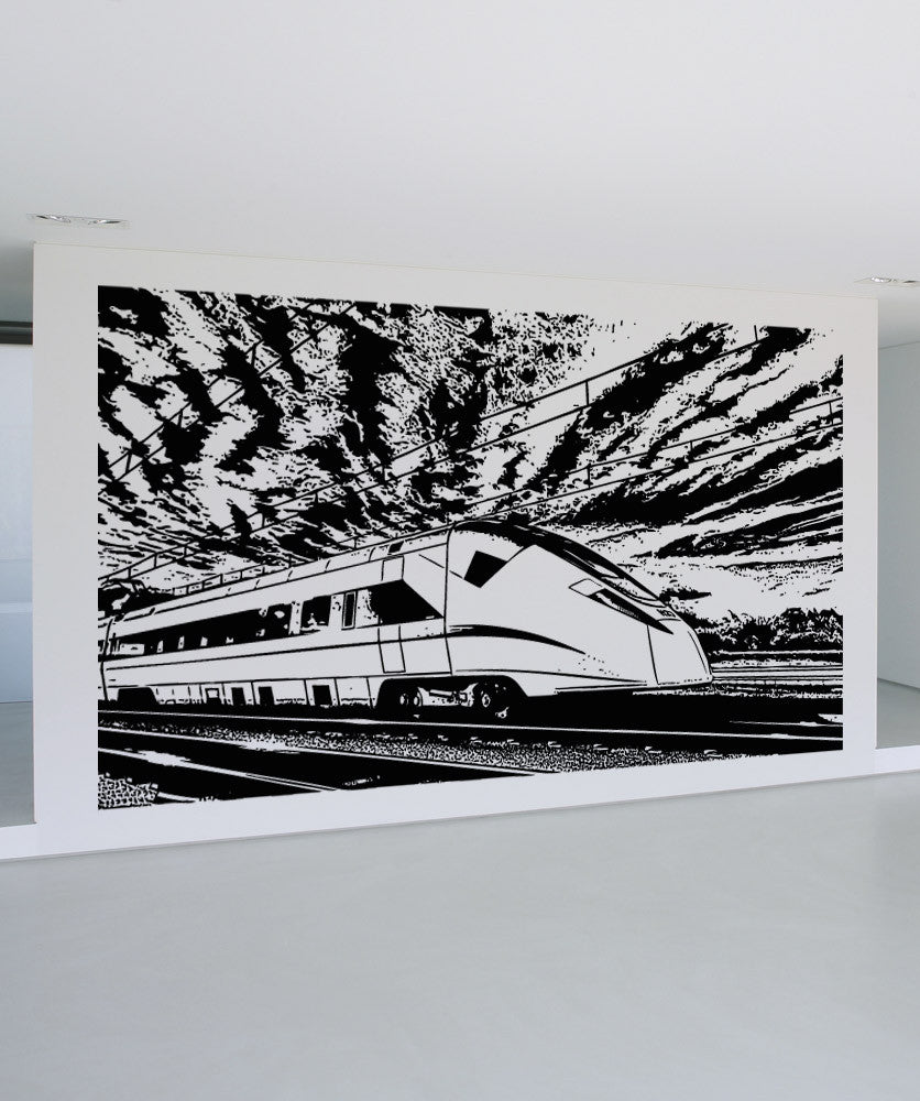 Vinyl Wall Decal Sticker Japanese Bullet Train Scenery #5237
