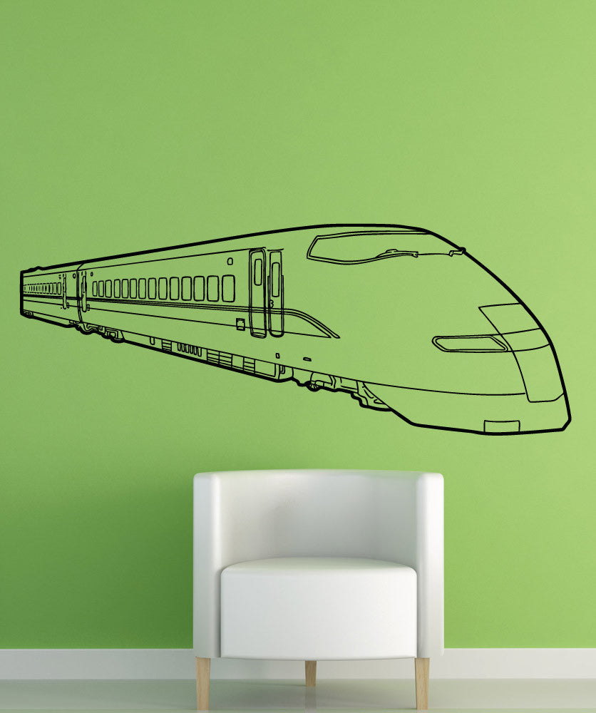 Vinyl Wall Decal Sticker Bullet Train #5238