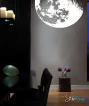Moon Wall Decal Flowing in Space. #523
