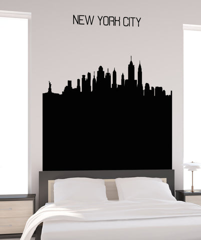 Vinyl Wall Decal Sticker NYC Buildings Silhouette #5240