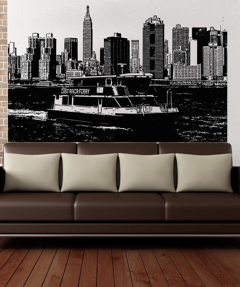 Vinyl Wall Decal Sticker NYC East River Ferry #5241