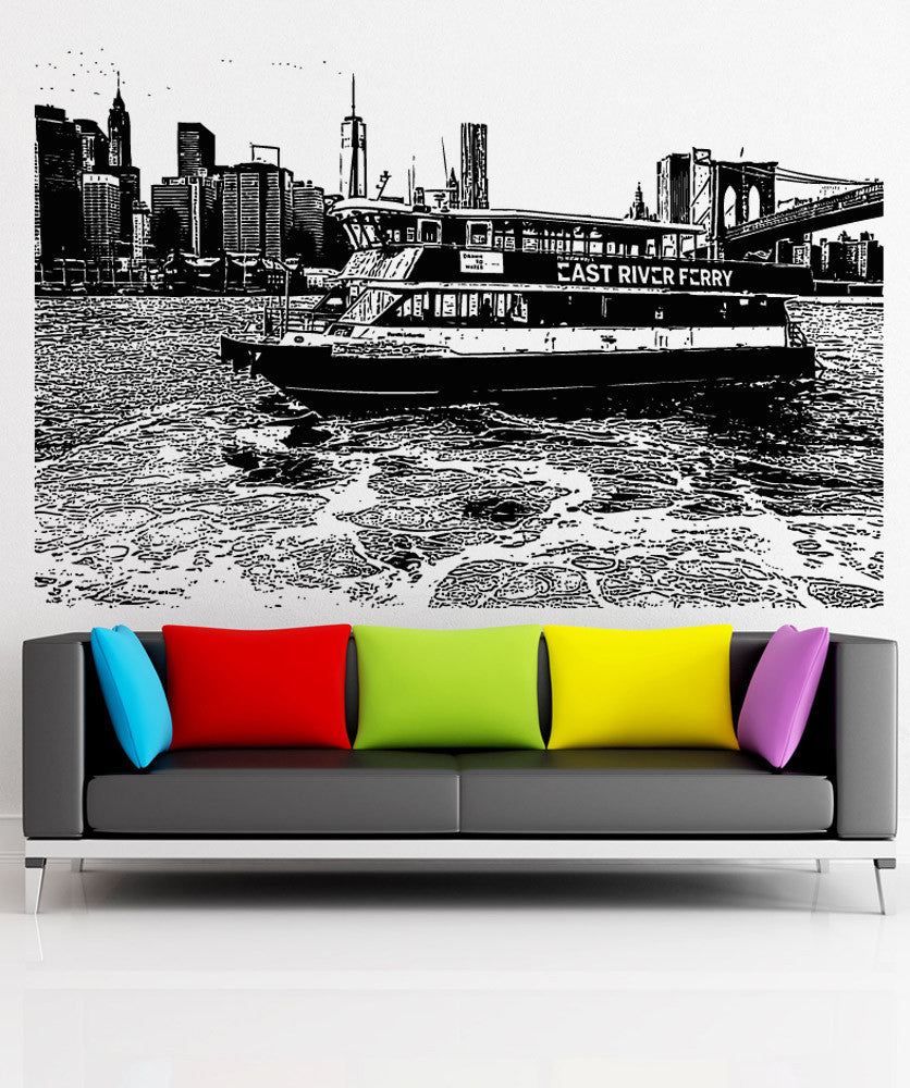 Vinyl Wall Decal Sticker NYC Ferry #5242