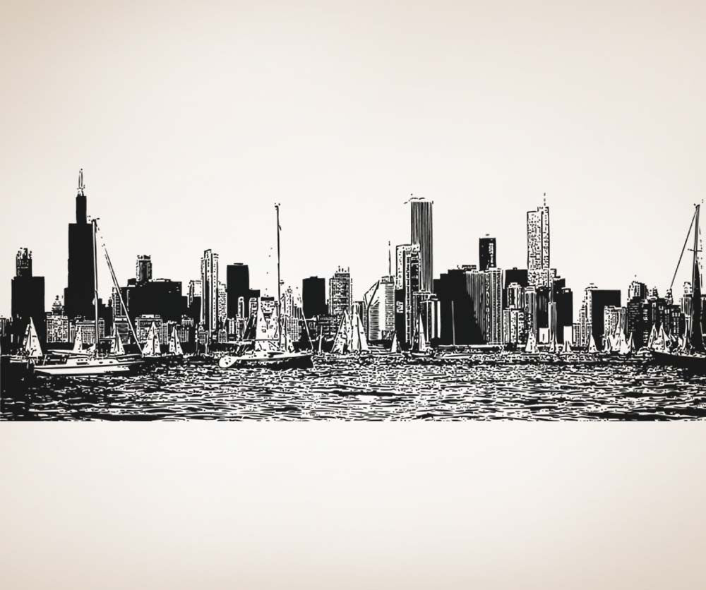 Vinyl Wall Decal Sticker Chicago Yachting #5249