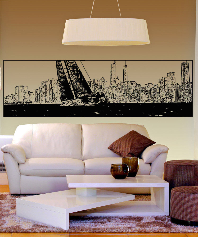 Vinyl Wall Decal Sticker Yacht in Chicago #5250