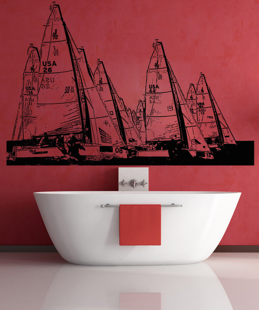 Vinyl Wall Decal Sticker Yachts #5251