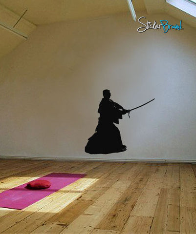 Vinyl Wall Decal Sticker Japanese Ronin Swordsman #526