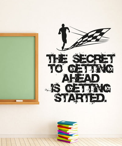 Vinyl Wall Decal Sticker Getting Started Quote #5271