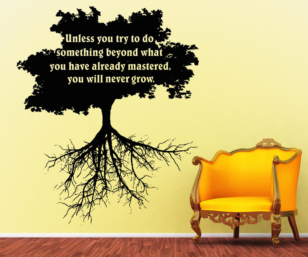Vinyl Wall Decal Sticker Something Beyond Mastered Quote #5272