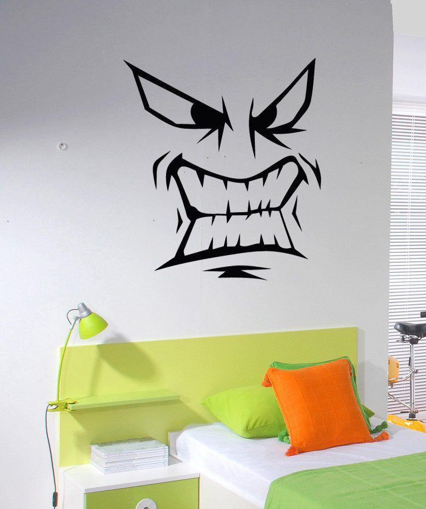 Vinyl Wall Decal Sticker Snarling Face #5280
