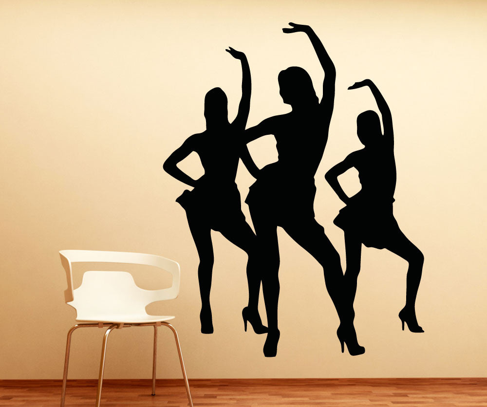 Vinyl Wall Decal Sticker Dancing Women Trio #5291
