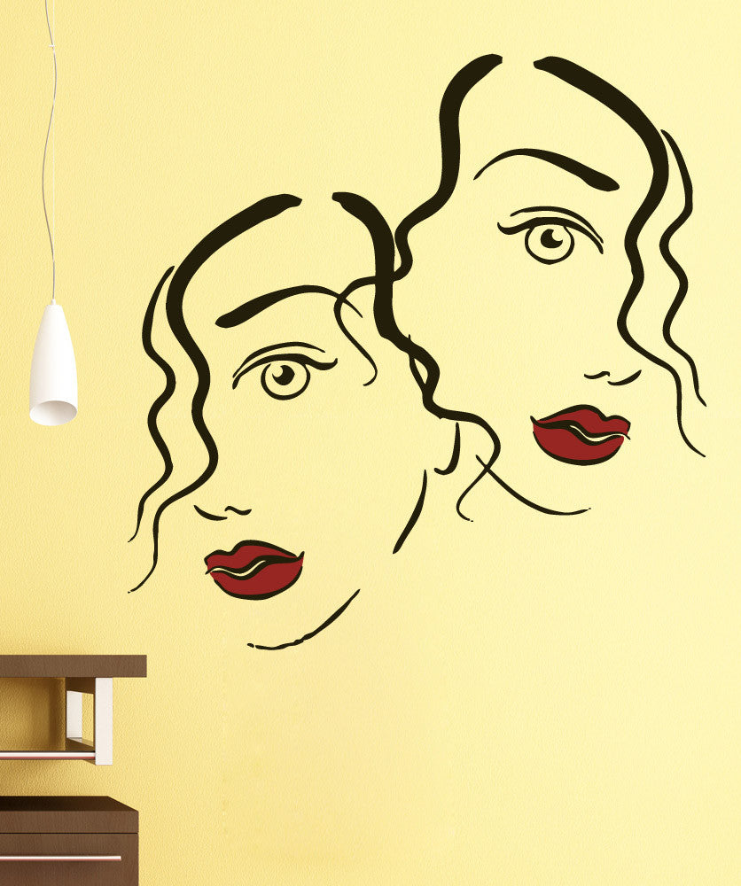 Vinyl Wall Decal Sticker Twin Women #5292