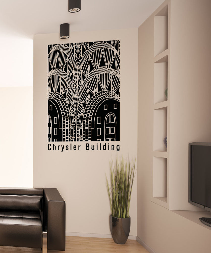Vinyl Wall Decal Sticker Chrysler Buildings Design #5298