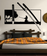 Vinyl Wall Decal Sticker Samurai Katana #5299