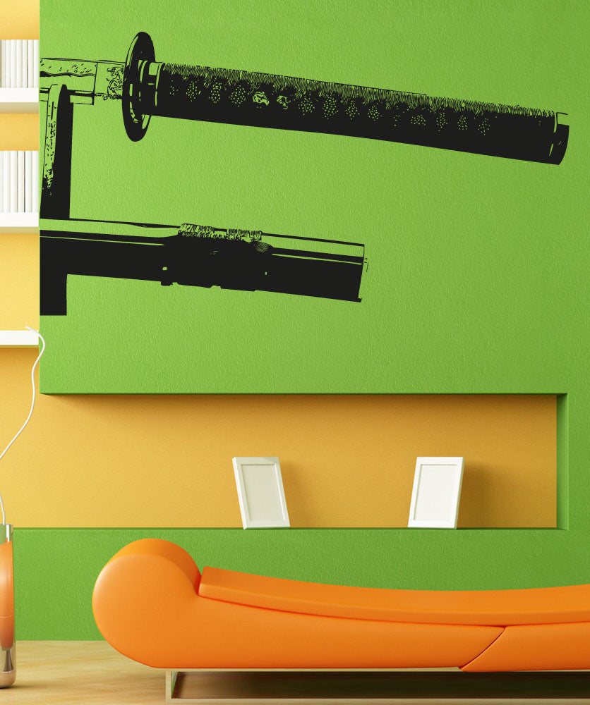 Vinyl Wall Decal Sticker Sword Handles #5301
