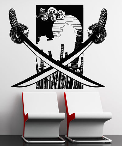 Vinyl Wall Decal Sticker Katanas Design #5303